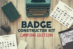 Badge Kit de Construtor - Edição de Camping - APLICAÇÕES SUPORTADAS  Adobe Illustrator, Adobe Photoshop  TIPOS DE ARQUIVO  AI, EPS, PSD - IA Produtos