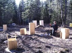 How to Build a Stone Foundation - from Mother Earth News. All Homestead buildings should have these strong foundations..