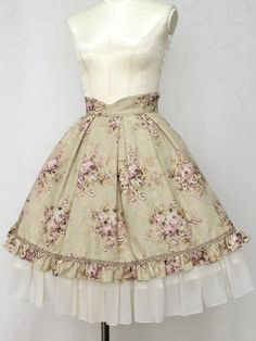 Victorian Maiden Rose Call Frill Skirt
