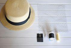 Canotier Voilette / DIY   http://www.youmakefashion.com/2013/04/diy-35-la-canotier-voilette.html