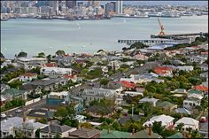 This photo from Auckland, North Island is titled 'Devonport to Auckland City'. My Family History, Auckland, New Zealand, South Africa, Paris Skyline, Ireland, Feels, Tower, City