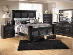 cavallino queen storage bedroom set