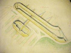 1982 AGGREGAZIONI 2_carta vegetale by Brunetto De Batté