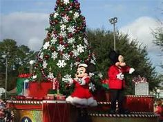 Walt Disney World Christmas Day Parade ,1991 ,it was a cold year that year in Florida ,but a great time :)