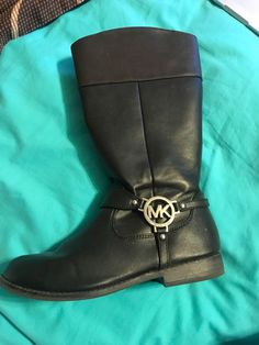 promo code e7724 59cff MK Michael Kors Boot Black Leather Children Sz 5  fashion  clothing  shoes   . Black Leather BootsGirls ...