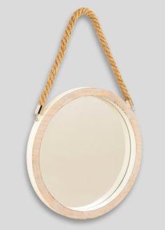 Hanging Circular Mirror (30cm) - Matalan