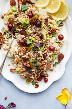 My new favorite vegetarian lunch! This Vegan Waldorf Wheatberry Salad is the perfect simple recipe for a filling lunch or side at dinner. It's chocked full of both veggies and fruit! #sponsored #TastesLikeBetter