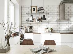 кухня в малогабаритной квартире в скандинавском стиле