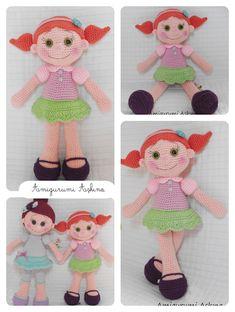 Amigurumi Safiş Doll- Free Pattern  Click to link for a free pattern. FREE PATTERN!...