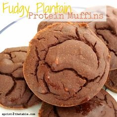 #MoveHappy 4: Fudgy Plantain Protein Muffins | Sprint 2 the Table