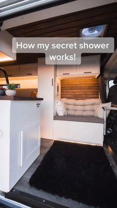 Van Conversion Interior, Camper Van Conversion Diy, Sprinter Conversion, Build A Camper Van, Diy Camper, Bus Life, Camper Life, Mercedes Sprinter, Bus Living