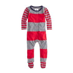 J.Crew - Baby footsie coverall in big stripe