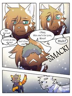 Pg SR Comic: Pg 105 Pg Pg SR Comic: *Redone* Original version (for those who still want to read/comp. Warrior Cats Comics, Warrior Cat Memes, Warrior Cats Fan Art, Cat Comics, Anime Furry, Anime Wolf, Group Of Cats, Baby Voice, Cat Reading