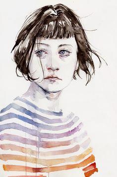 Increíbles retratos en acuarela · Watercolor portraits