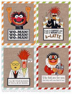 dEsigner Muppets Printables.