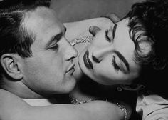 """Paul Newman with Ann Blyth - 1957 in """"The Helen Morgan Story"""""""
