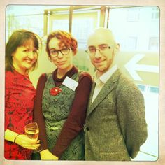 Dee, the very lovely and talented Viviane Schwarz and her man at the Roald Dahl Funny Prize 2011! Represent!