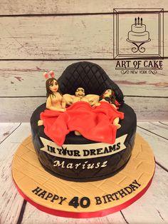Playboy 40th Birthday Cake