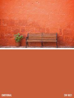 Sherwin Williams Orange Paint Color Emotional Sw 6621 Colors