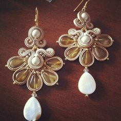DIY Tutorial soutache: Orecchini Margherita by AdelsLaboratory