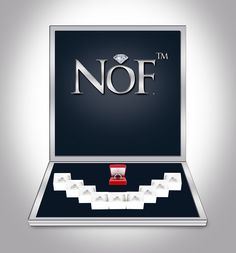 NOF display for Diamond Rings of Nisgav Diamonds