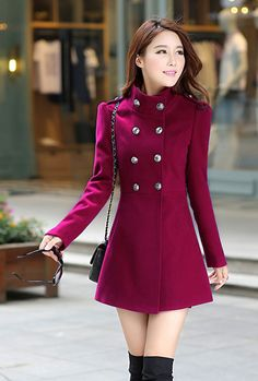 Status Quo Double Breasted Trench Coat in Wine | Sincerely Sweet Boutique