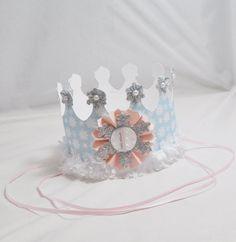 Girl Winter Onederland Crown- 1st Birthday