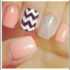 pink chevron nails ( nails for my birthday! Get Nails, Prom Nails, Love Nails, How To Do Nails, Pretty Nails, Hair And Nails, Gorgeous Nails, Nail Designs Tumblr, Cute Nail Designs