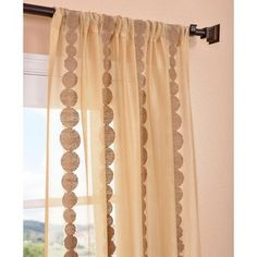 Cleopatra Gold Embroidered Sheer Curtain Panel | Overstock.com Shopping -  The Best Deals on