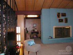 Mid Century Modern Wall Panels   mid century living room