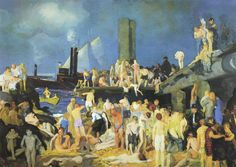 George Bellows - Riverfront No. 1, 1915