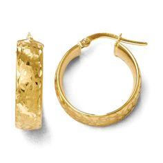 Italian 14k Gold Hoop Earrings Women's