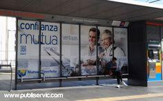 Rotulación Marquesina Mutua Tinerfeña. ¿te interesa? Contacta con nosotros. #rotulacion #vehiculo #tranvia #publiservic #mupis Advertising