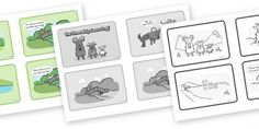 Three Billy Goats Gruff - Sequencing Cards with speech bubbles