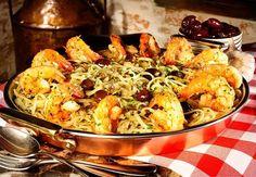 Espaguete com camarões, um dos pratos do restaurante Famiglia Mancini (Foto: Divulgação)