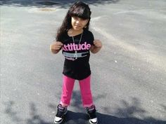 Baby Kaley got that swagg