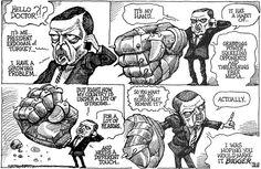 KAL on President Erdogan of Turkey Free Mind, Political Cartoons, Satire, Cartoon Art, Illustration, Funny, Stress, Turkey, October