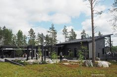 ASUNTOMESSUT 2017: MUSTAT MESSUTALOT Finland, Cabin, House Styles, Home, Cabins, Ad Home, Cottage, Homes, Wooden Houses