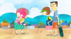 <Juhee's Summer Vacation(2012)> For 3.1 Movement promote animation.  Director, #Character design, #concept design, #background design
