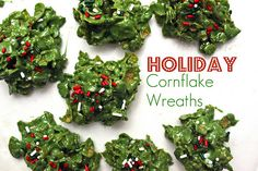 cornflake wreaths?  I made these in 2nd grade years ago....and make with my kids now. Fun and yummy ;-)