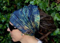 Kaleidoscope Dreadlock Headband/dread sock/wrap - Lightweight, soft, comfortable & versatile by Dreadscapes on Etsy