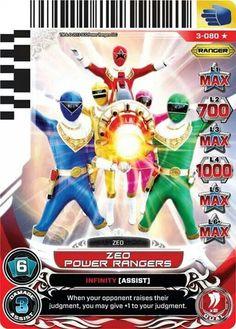 Zeo Power Rangers - Power card