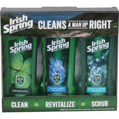 Irish Spring Bodywash, 18 oz, 3PK Holiday Gifts For Men, Colgate Palmolive, Shower Accessories, Man Up, Body Scrub, Body Wash, Scrubs, Irish, Ireland