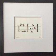 Pebble Art, Stone Art, Unique Gift, Birthday Gift, Gallery Wall, ooak pebble…