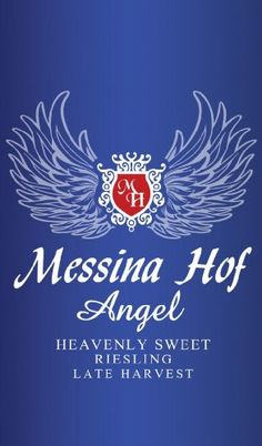 NV Messina Hof Winery Angel Late Harvest Riesling 750 mL is a Delightful Dessert Wine! A bit Too sweet if that is possible, But Delish regardless :-)