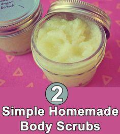 2 Simple Homemade Body Scrubs Follow us @ http://pinterest.com/stylecraze/ for more updates.