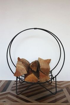 Vintage Iron Firewood Holder by owsupply on Etsy #vintage #crafts