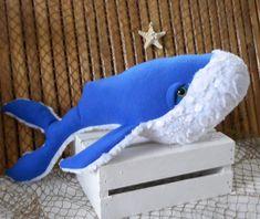 Nautical pillows, sea life plushies, novelty pillows by Fleeceofnature Nautical Baby Nursery, Nautical Bedding, Mermaid Nursery, Big Whale, Nautical Gifts, Mermaid Dolls, Plush Animals, Toddler Gifts, Handmade Toys