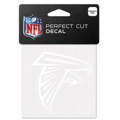 Atlanta Falcons Decal 4x4 Perfect Cut White #AtlantaFalcons Tiki Totem, Transfer Tape, Reality Check, Atlanta Falcons, 4x4, Adhesive, Decals, Prints, Logo