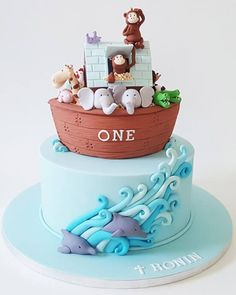 Noah fit all the animals into one Ark, we fit a Birthday and Christening celebration into one cake!